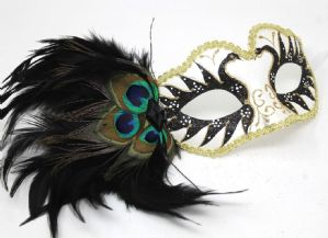Black and Gold Mask - Peacock Mask | Masks and Tiaras
